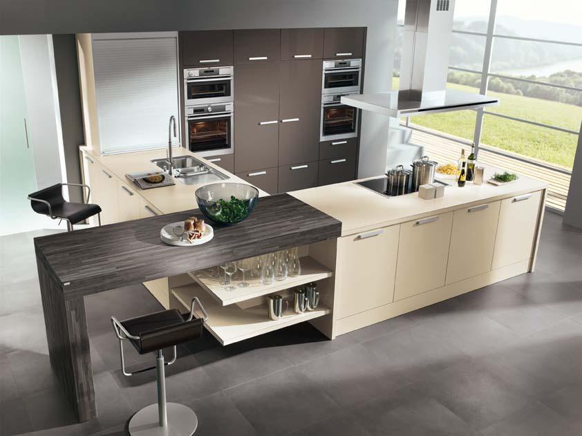 Kuhinja sodobnega izgleda je prostor kuharskih užitkov